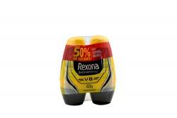 Desodorante Rexona MotionSense V8 Empaque Con 2 Roll On Con 50 mL C/U