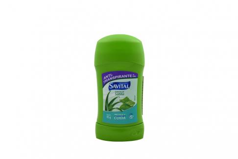 Desodorante Savital Extracto De Sábila 48 Horas Barra Con 45 g