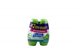Desodorante Savital Sábila Empaque Con 2 Roll On Con 45 mL C/U
