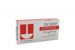 Dicasen 25 / 25 mg Caja Con 20 Comprimidos Rx