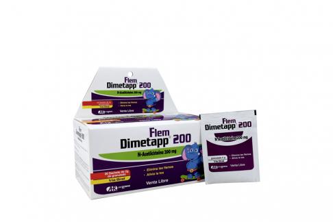 Dimetapp Flem 200 mg Caja Con 30 Sachets Granulados Con 2 g C/U
