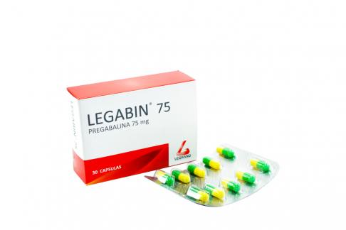 Legabin 75 mg Caja Con 30 Cápsulas Rx4