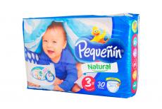Etapa 3 G Pañal Pequeñín Natural Paca Con 30  Unidades  - Con Sistema Pato Flex