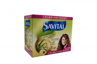 Crema Para Rizos Savital Aceite De Argán Caja Con 20 Sobres
