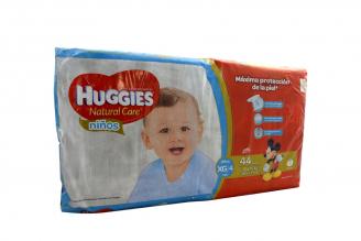 Etapa 4 XG Pañal Huggies Natural Care Niños Paca Con 44 Unidades