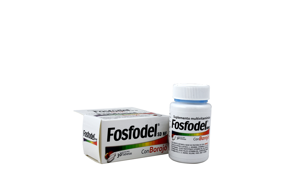 Fosfodel Con Borojó Frasco Con 30 Tabletas Rx Rx2