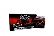 Gel Ego For Men Attraction Caja Con 15 Sobres Con 27 mL C/U
