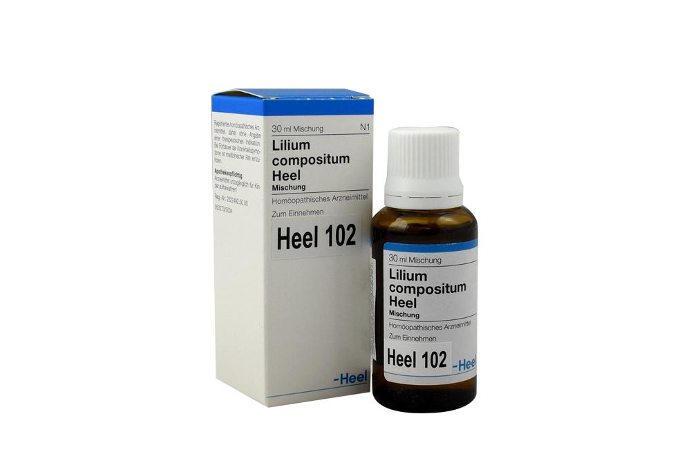 Lilium Compositum Heel® 102 Gotas Caja Con Frasco Con 30 mL Rx