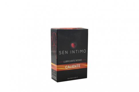 Lubricante Sen Intimo Caliente - Crema De Whisky Caja Con Frasco Con 30 mL