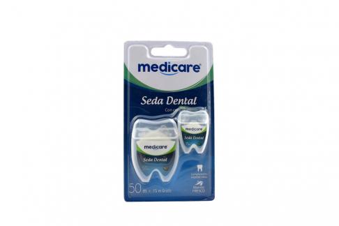 Seda Dental Medicare Menta 50 Metros + 15 Metros Empaque Con 1 Unidad