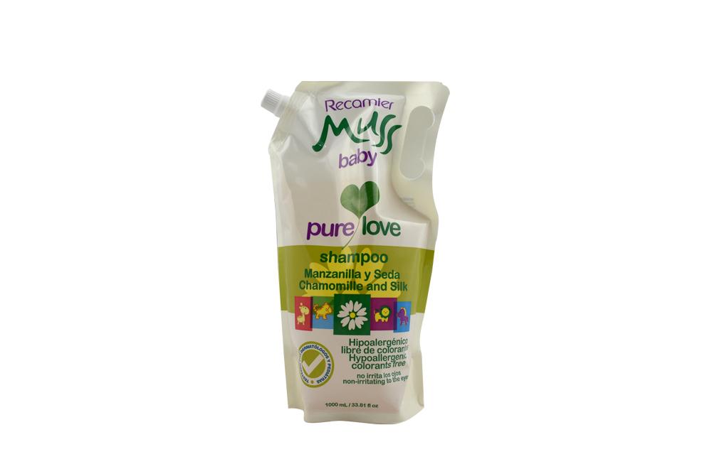 Shampoo Muss Baby Manzanilla Y Seda Doypack Con 1000 mL