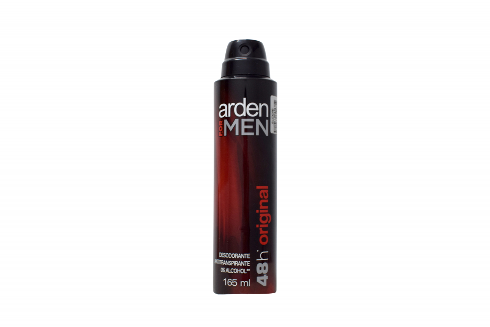 Desodorante Arden For Men 48H Original Aerosol Frasco Con 165 mL