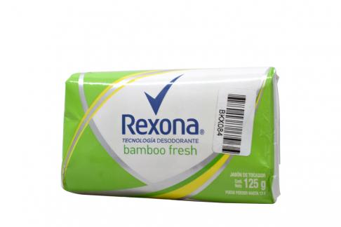 Jabón De Tocador Rexona Bamboo Fresh Empaque Con Barra Con 125 g