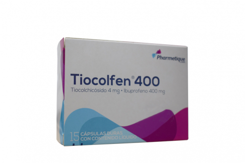 Tiocolfen 4 / 400 mg Caja Con 15 Cápsulas Duras Rx