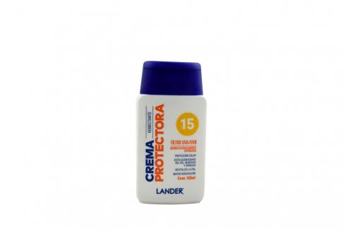Crema Humectante Protectora Lander SPF 15 Frasco Con 120 mL