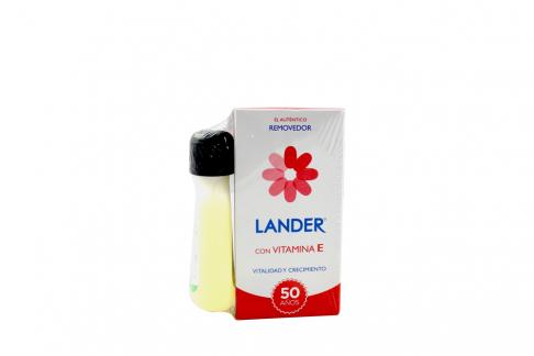 Removedor Lander Con Vitamina E Caja Con Frasco Con 55 mL