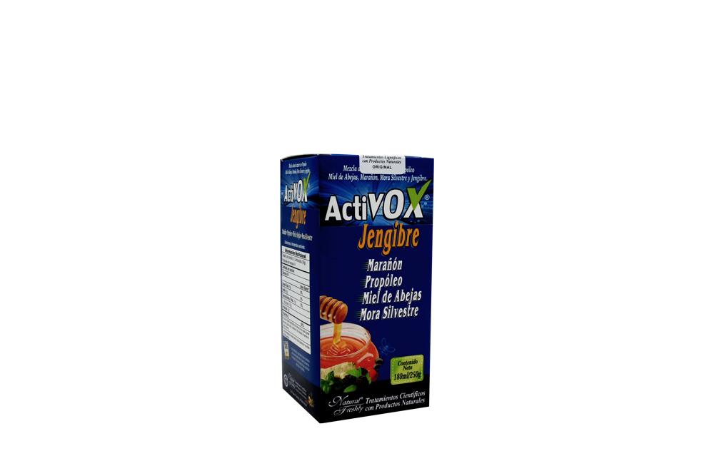 Activox Jarabe Jengibre Caja Con Frasco Con 180 mL