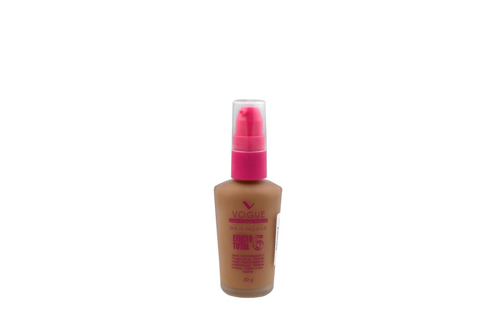 Maquillaje Liquido Vogue Efecto Total 6 Bronce Frasco Con 30 g
