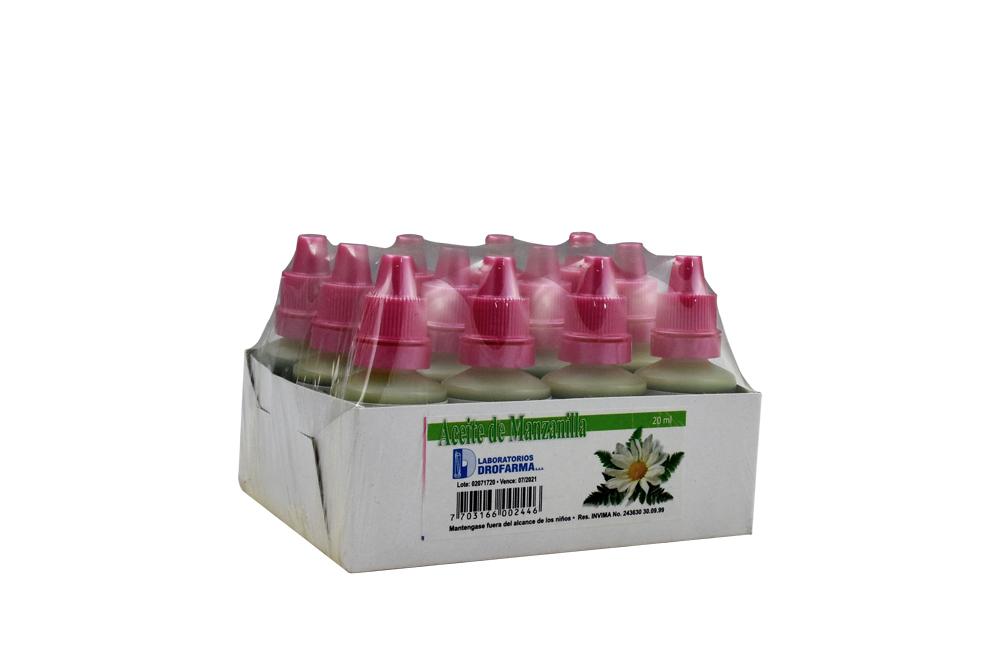 Aceite De Manzanilla Drofarma Empaque Con 12 Frascos Con 20 mL C/U