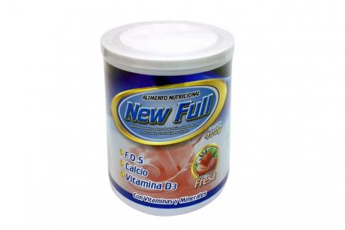 Alimento Nutricional New Full Tarro Con 400 g – Sabor Fresa
