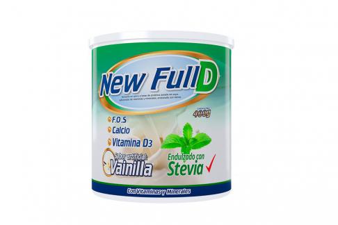 New Full D Con Stevia Tarro Con 400 g - Sabor Vainilla