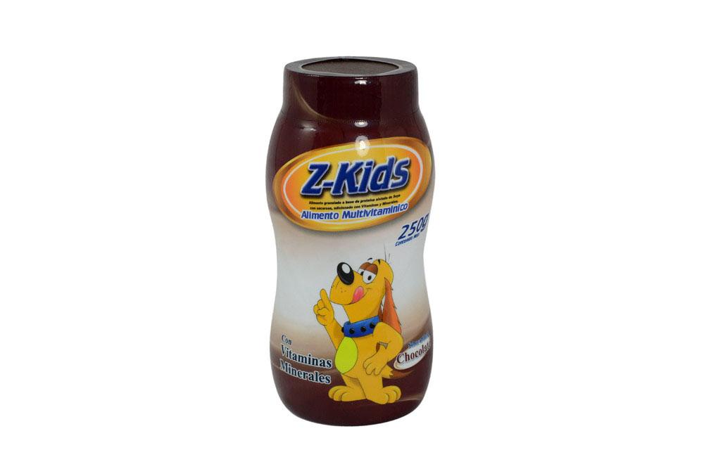 Alimento Multivitamínico Z-Kids Tarro Con 250 g – Sabor Chocolate