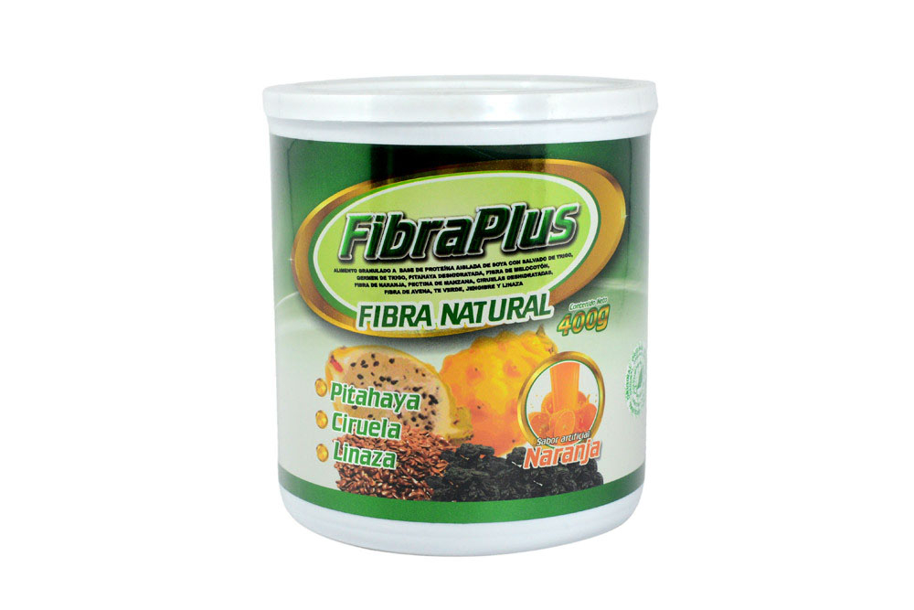 FibraPlus Tarro Con 400 g – Sabor Naranja