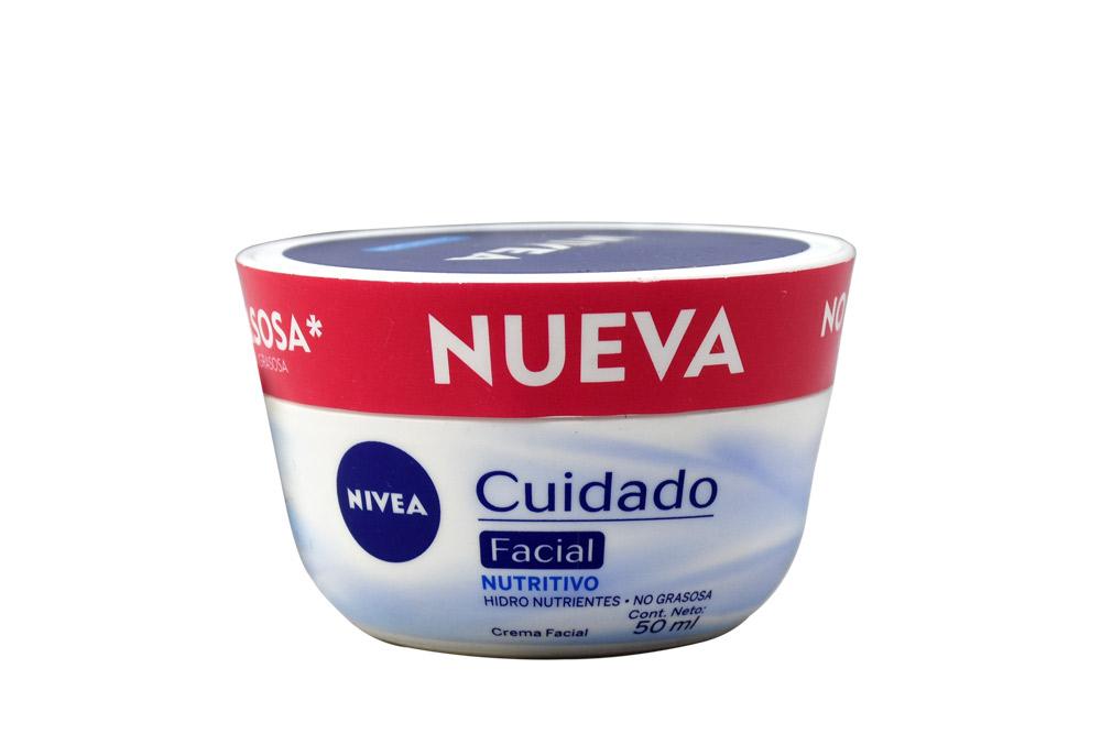 Crema Nivea Cuidado Nutritivo Facial Caja Con Frasco Con 50 mL