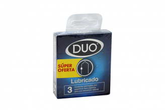 Condones Duo Lubricados Caja Con 3 Unidades