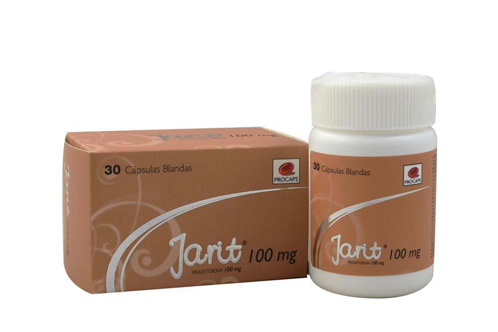 Jarit 100 mg Caja Con Frasco Con 30 Cápsulas Rx Rx4
