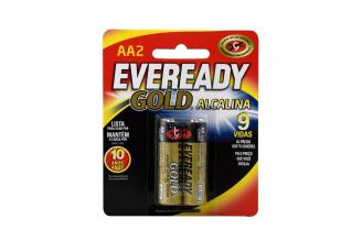 Eveready Gold Pila Alcalina AA Empaque Con 2 Unidades