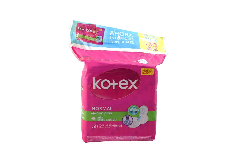 Toallas kotex Normal Empaque Con 30 Unidades