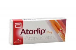 Atorlip 20 Mg Caja Con 10 Tabletas Rx