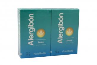 Jabón Alergibón Avena Caja Con 2 Barras Con 90 g C/U