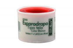 """Esparadrapo Tela Blanco 1"""" x 1 Yardas Empaque Con 1 Unidad"""