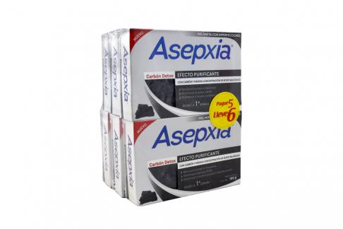 Jabón Carbón Detox Asepxia Empaque Con 6 Barras Con 100 g C/U