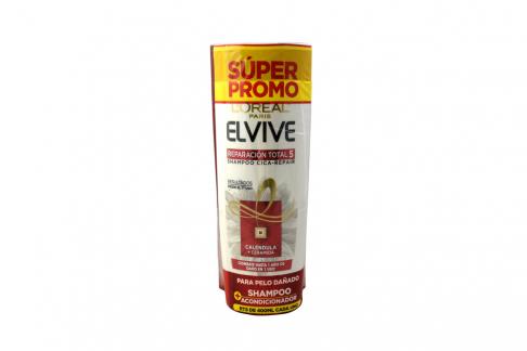 Shampoo y Acondicionador Elvive Reparación Total 5 Empaque Con 2 Frascos Con 400 mL
