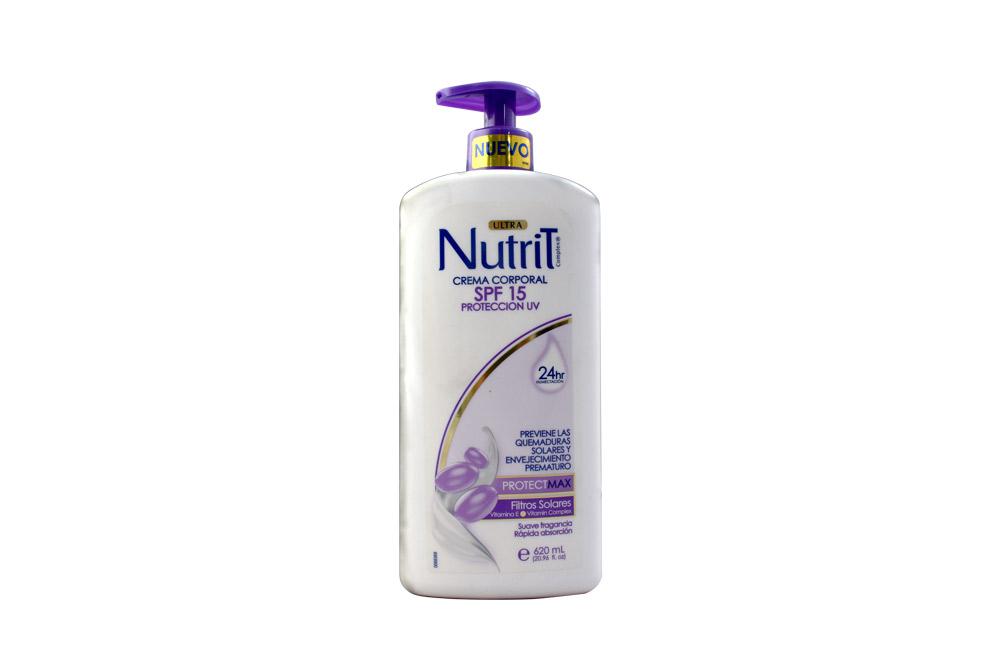 Crema Corporal Nutrit SPF 15 Protección UV Frasco Con 620 mL