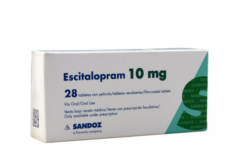 Escitalopram 10 mg Caja Con 28 Tabletas Rx Rx4