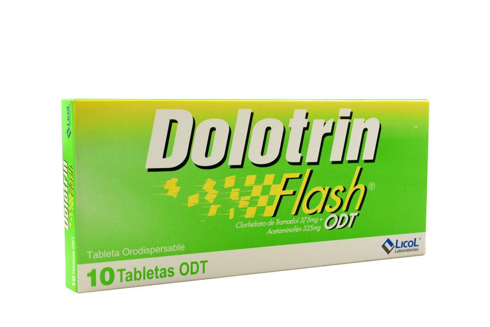 Dolotrin Flash 325+37,5 Mg Caja Con 10 Tabletas Orodispersable Rx