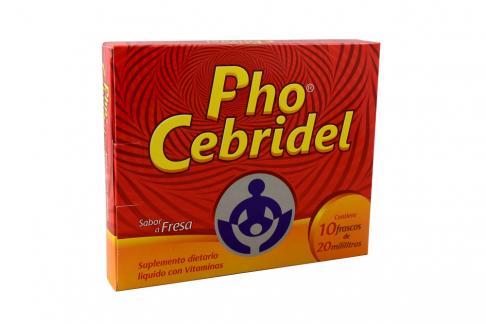 PhoCebridel Frasco Con 10 Unidades – Sabor Fresa