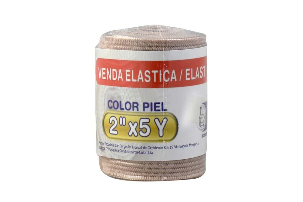 """Venda Elástica Color Piel Begut 2"""" X 5 Yardas Empaque Con 1 Unidad"""