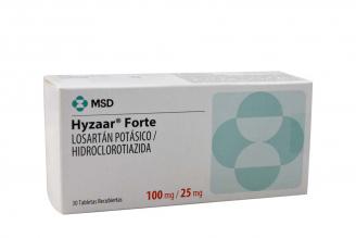 Hyzaar® Forte 100 / 25 mg Caja Con 30 Tabletas Recubiertas Rx4
