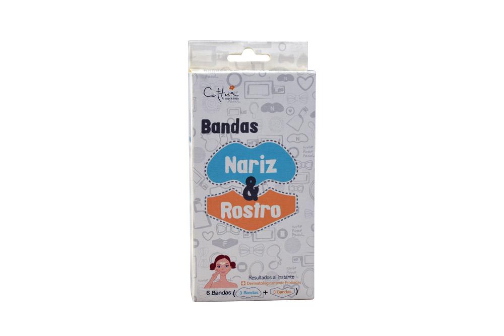 Bandas Cettua Nariz Y Rostro Caja Con 6 Unidades
