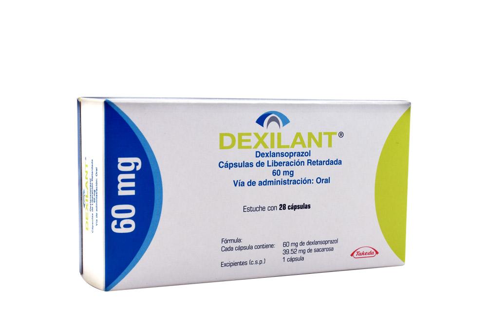 Dexilant 60 mg Caja Con 28 Cápsulas De Liberación Retardada Rx