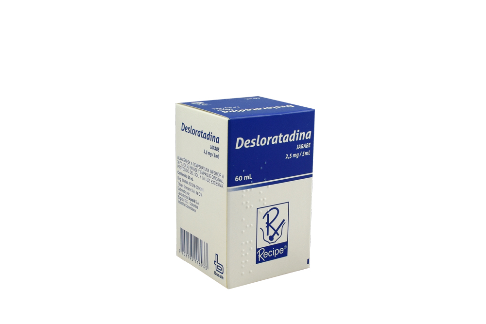 Desloratadina 2,5mg / 5mL Jarabe Caja Con Frasco Con 60 mL Rx