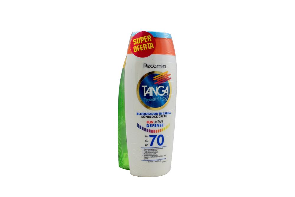 Bloqueador Tanga En Crema Spf 70 Frasco Con 250 mL +  Aftersun Frasco Con 250 ml