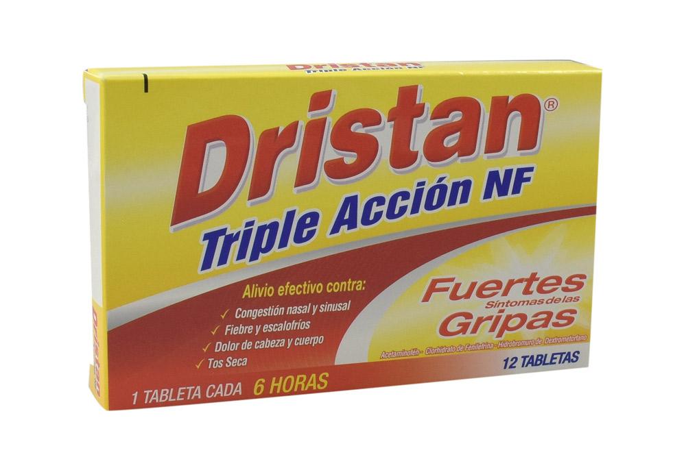 Dristan Triple Acción NF Caja Con 12 Tabletas