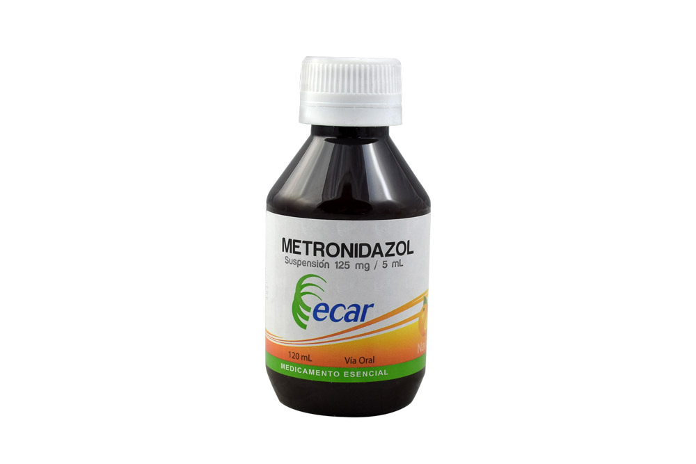 Metrodinazol 125 mg / 5 mL Frasco Con 120 mL Rx