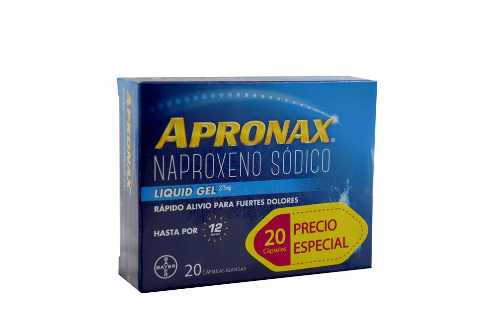 Apronax 275 mg Caja Con 20 Cápsulas Blandas